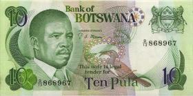 Botswana P.09a 10 Pula (1982) (1-)