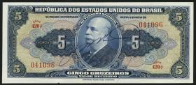 Brasilien / Brazil P.134  5 Cruzeiros (1943) (1)
