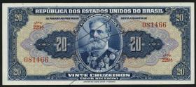 Brasilien / Brazil P.136  20 Cruzeiros (1943) (1)