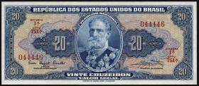 Brasilien / Brazil P.168a 20 Cruzeiros (1961) (1)