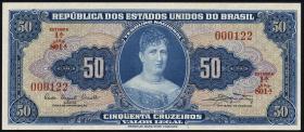 Brasilien / Brazil P.169 50 Cruzeiros (1961) (1)
