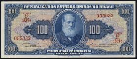 Brasilien / Brazil P.170b 100 Cruzeiros (1964) (1)