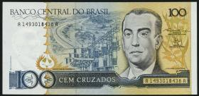 Brasilien / Brazil P.211 100 Cruzados (1987) (1)