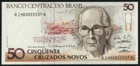 Brasilien / Brazil P.219 50 Cruzados Novos (1989) (1)