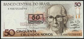 Brasilien / Brazil P.223 50 Cruzeiros (1990) (1)