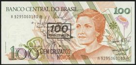 Brasilien / Brazil P.224 100 Cruzados (1990) (1)