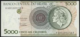 Brasilien / Brazil P.227 5000 Cruzeiros (1990) (1)