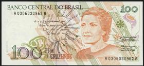 Brasilien / Brazil P.228 100 Cruzeiros (1990) (1)