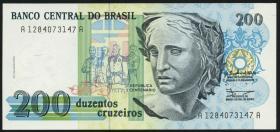 Brasilien / Brazil P.229 200 Cruzeiros (1990) (1)