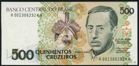 Brasilien / Brazil P.230 500 Cruzeiros (1990) (1)