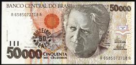 Brasilien / Brazil P.237 50 Cruzeiros Reais (1993) (1)