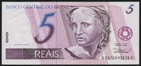 Brasilien / Brazil P.244g 5 Reais (1994-97) (1)