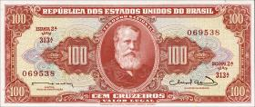 Brasilien / Brazil P.180 100 Cruzeiros (1963) (1)