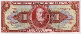 Brasilien / Brazil P.185a 10 Cent- auf 100 Cruz. (1966-67) (1)