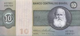 Brasilien / Brazil P.193 10 Cruzeiros (1970-80) (1)