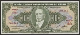 Brasilien / Brazil P.159 10 Cruzeiros (1953-60) (1)