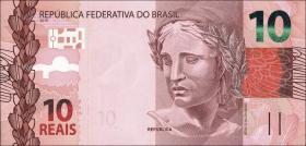 Brasilien / Brazil P.254a 10 Reais 2010 (2012) (1)