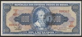 Brasilien / Brazil P.187 1 Cru. N. auf 1000 Cruz. (1966-67) (1)