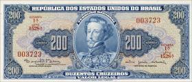 Brasilien / Brazil P.171c 200 Cruzeiros (1964) (1)