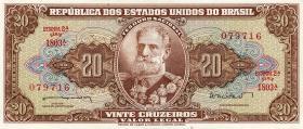 Brasilien / Brazil P.178 20 Cruzeiros (1962-63) (1)