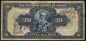 Brasilien / Brazil P.048d 20 Mil Reis (1931) (4)
