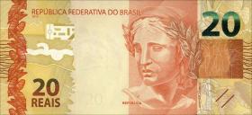 Brasilien / Brazil P.255 20 Reais 2010 (2012) (1)