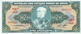 Brasilien / Brazil P.157A 2 Cruzeiros (1956-58) (1)