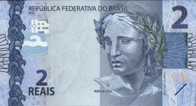 Brasilien / Brazil P.252 2 Reais 2010 (2013) (1)