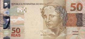 Brasilien / Brazil P.256 50 Reais 2010 (1)