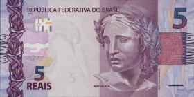 Brasilien / Brazil P.253 5 Reais 2010 (2013) (1)