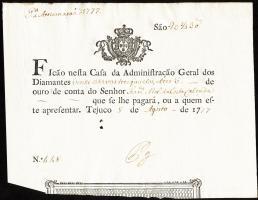 Brasilien / Brazil P.A101 erste Banknote 1777 (1-)