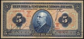 Brasilien / Brazil P.029a 5 Mil Reis (1925) (2)
