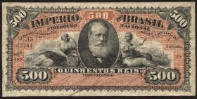 Brasilien / Brazil P.A243b 500 Reis (1885) (3)
