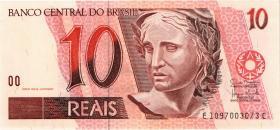 Brasilien / Brazil P.245Ak 10 Reais (1997-2003) (1)