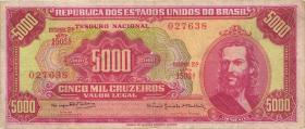 Brasilien / Brazil P.182c 5000 Cruzeiros (1964) (3)