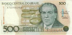 Brasilien / Brazil P.212c 500 Cruzados (1987) (1)