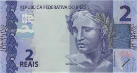 Brasilien / Brazil P.252d 2 Reais 2010 (2018) (1)
