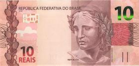 Brasilien / Brazil P.254c 10 Reais 2010 (2017) (1)