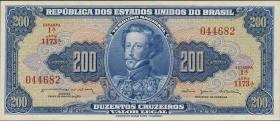 Brasilien / Brazil P.171b 200 Cruzeiros (1964) (1)