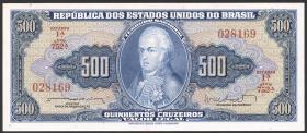 Brasilien / Brazil P.172b 500 Cruzeiros (1962) (1)
