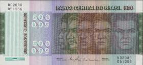 Brasilien / Brazil P.196Ac 500 Cruzeiros 1972 (1980) (1)