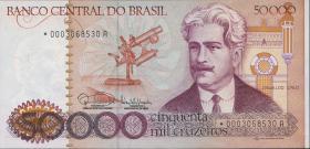Brasilien / Brazil P.204c 50000 Cruzados Novos (1985) Replacement (1)