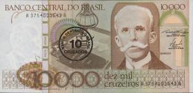 Brasilien / Brazil P.206 10 Cruzados auf 10000 Cruzeiros (1986) (1)
