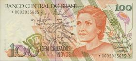 Brasilien / Brazil P.220 100 Cruzados Novos (1989) Replacement (1)