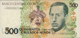 Brasilien / Brazil P.222 500 Cruzados Novos (1990) Replacement (1)