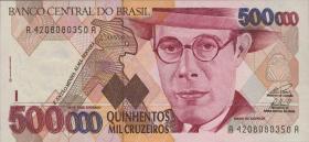 Brasilien / Brazil P.236b 500.000 Cruzeiros (1993) (1)