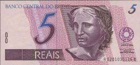 Brasilien / Brazil P.244b 5 Reais (1994-97) (1)
