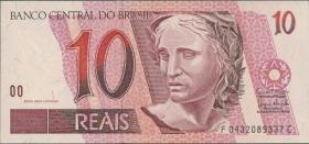 Brasilien / Brazil P.245Al 10 Reais (1997-2003) (1)