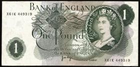 Großbritannien / Great Britain P.374g 1 Pound (1970-77) (3)