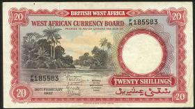 British West Africa P.10a 20 Shillings 1957 (3)